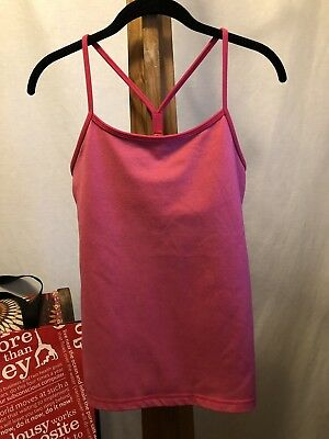 e2b32c03f4156 LULULEMON POWER Y Tank Top Women Size 8 Neon Pink Shelf Bra ...