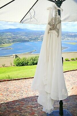 Anna Campbell Silk Tulle Wedding Dress Size Extra Small