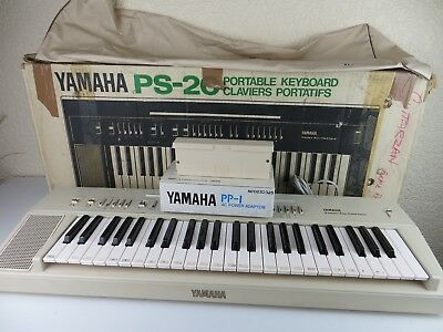 Yamaha Portable Keyboard PS-20 Automatic Bass Chord System Power Adaptor Case