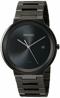 Seiko Solar Black Ion Plated Stainless Steel Men S Watch Sne481