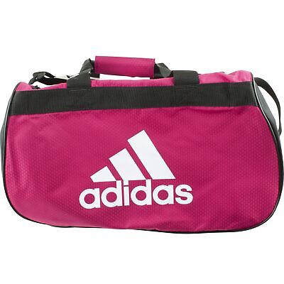 c9ce57815600 Adidas Diablo Small Duffel Sports Gym Bag School Workout Soccer Bold Pink  Black