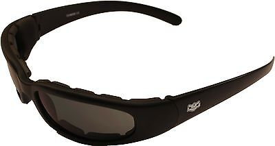 Petite Fit Sunglasses So Cal by Fat Skeleton Motorcycle Padded Biker + hard case