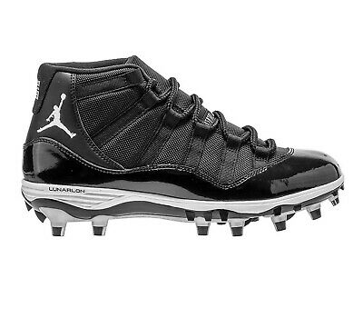 8b22113616af66 Jordan 11 XI Retro TD Cleats Black White Silver AO1561-011 Mens Football  Shoes