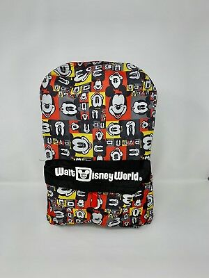 Walt Disney World Theme Park Authentic Backpack Mickey Mouse Pop Art Faces NEW