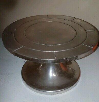 Vintage Hartley Smith stainless steel Cake Decorating Icing Turntable