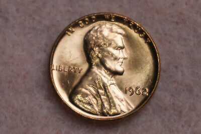 VINTAGE 1962 LINCOLN Memorial Cent Red Penny One Coin