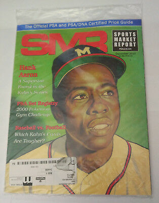 SMR Sports Market Report PSA/DNA Guide Magazine #281 Hank Aaron December 2017