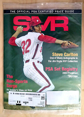 SMR Sports Market Report PSA/DNA Guide Magazine #294 Steve Carlton January 2019