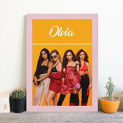 Framed Little Mix Personalised Poster A4 Print Wall Art Any Name Birthday Gift