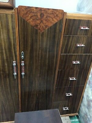 Art Deco Gentleman's Wardrobe / Cabinet (Low)
