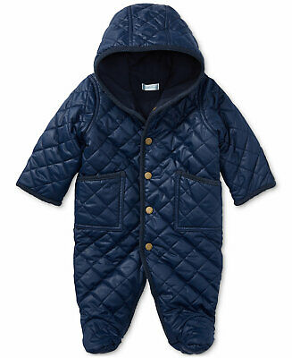 c1af5567b Ralph Lauren Polo Baby Boys Navy Hooded Barn Bunting Snowsuit 9 Months