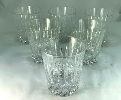 Elegant Six Waterford Heavy Crystal Glasses Old Fashioned/Whiskey Tumblers