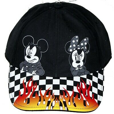 663b81ba Vans Disney X Punk Mickey Minnie Mouse Checkerboard Flames Court Side Cap