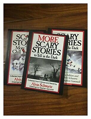 Scary Stories to Tell in teh Dark 3 Book Set Childrens Alvin Schwartz Movie NEW