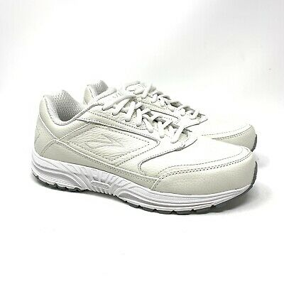 0259bd6f295 Brooks Dyad Walker Womens Walking Shoe Size 8 Wide Width White Leather  6200471