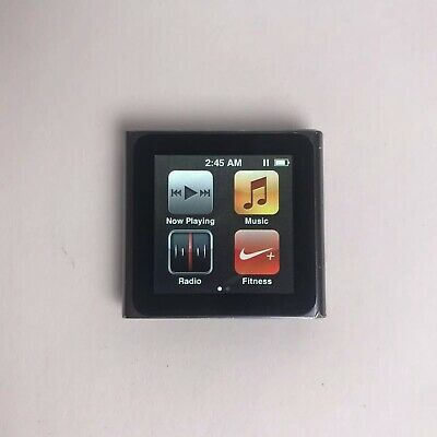 Apple iPod nano MC688LL 6th Generation Silver (8 GB)(READ Description)