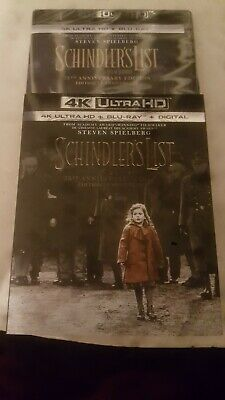 Schindlers list 25th anniversary edition  4k Ultra HD *SEALED*