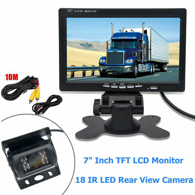 RCA Car Truck Bus 7 Inch Monitor 12V 24V Parking KIT Rear View Reverse Camera