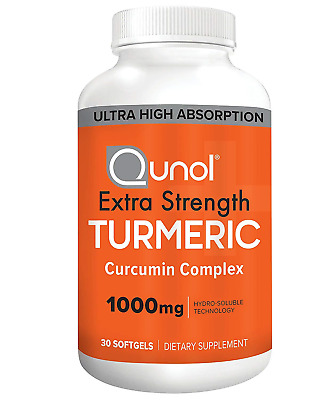 Turmeric Curcumin Softgels, Qunol with Ultra High Absorption 1000mg, Joint Extra