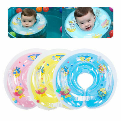 Baby BB Swimming Neck Float Inflatables Ring Adjustable Safety 1-18 Months N4A1D