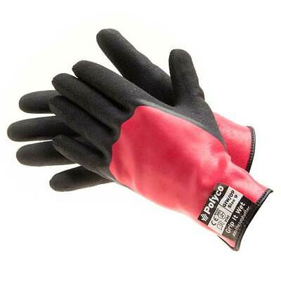 Bodyguard GIW/09 Grip It Wet Work Gloves 10 Pairs Size 9 Large Protection