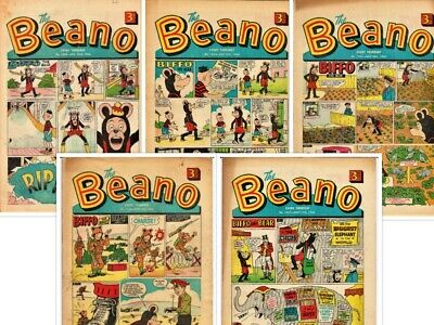 BEANO  # 1240,1244,1245,1246,1247 5 x 1966 issues Bundle the comic