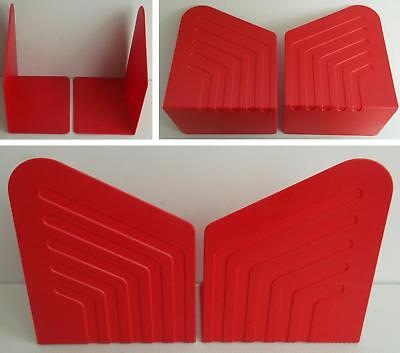 Vintage/Retro 1980s Pair of Red Plastic Myers Bookends