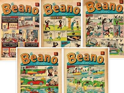 BEANO  # 1249,1250,1252,1254,1255 5 x 1966 issues Bundle the comic