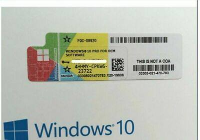 Licence sticker windows 10 pro professionnel 32 64bit neuf