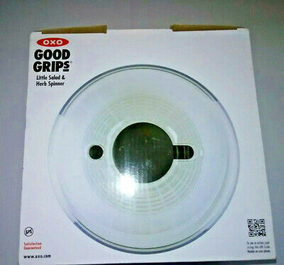 OXO GOOD GRIPS ~ Little Salad & Herb Spinner ~ Dishwasher Safe NEW OPEN BOX ITEM
