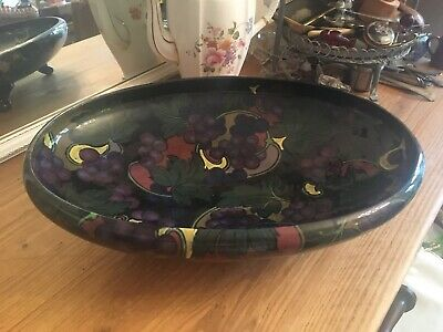 Vintage Stanley Ware Footed Fruit Platter Lovely Glaze & Pattern Good Condition