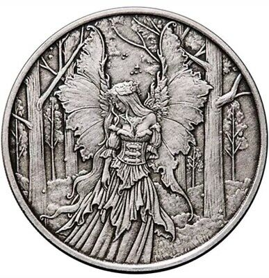 1 Oz 999 Silver Proof Antiqued Round Coin Lady Of The Forest Amy Brown Bullion