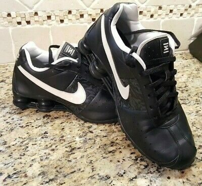 d41620b2528 Womens Nike Shox Classic II Black leather running shoes size 9.5 Athletic