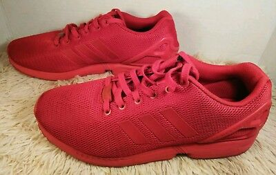 d8d31f29b Adidas Originals ZX Flux Triple Red Torsion Mens Running Shoes Size 10.5  S32278