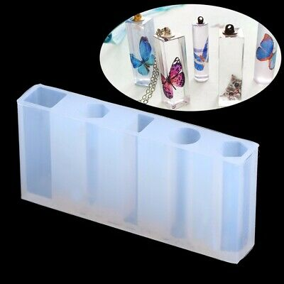 DIY Liquid Silicone Mold Resin Jewelry Pendant Necklace Pendant Mould Craft US