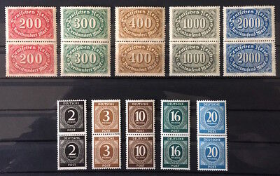#B014 * Germany * Beginner Lot * 10 different very fine vertical pairs * MNH