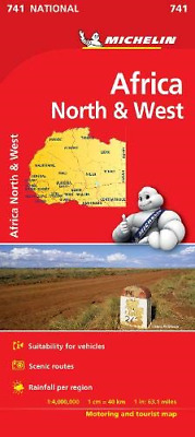 Africa North & West - Michelin National Map 741: Map Michelin National Maps