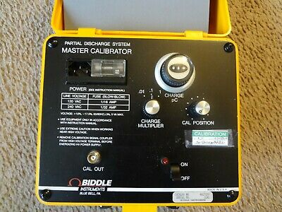 Biddle 6617250 Partial Discharge System Master Calibrator. Calibrated.