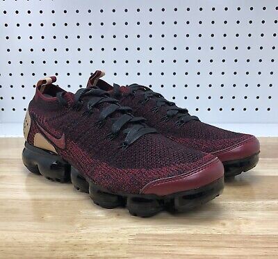 0a420f232dea Nike Air Vapormax Flyknit 2 NRG Red Burgundy Black AT8955-600 Size 8.5  LIMITED