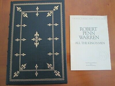 ALL THE KING'S MEN by Robert Penn Warren Franklin Library Signed 60 series