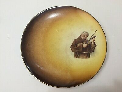 """Antique Homer Laughlin China With Violinist Plate, 9 1/4"""" Diameter"""