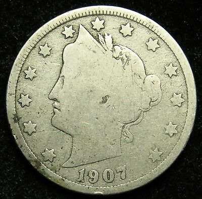 1907 Liberty Barber V Nickel G Good (B05)