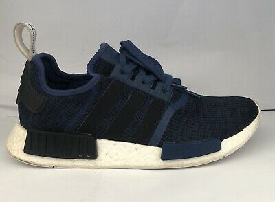 6a78063ad Adidas Originals Nmd R1 Mystery Blue black white Men s Size 10 (By2775)