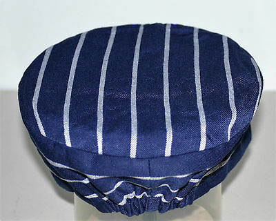 Chefs /  Butchers skull cap hat Navy / White