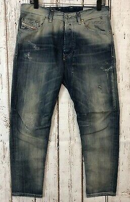 fe4631bb DIESEL NARROT Made in Italy Regular Carrot Distressed Jeans - Size 30x34  #w263