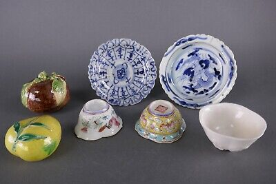 Lot (7) 19th Century Porcelain Chinese Pieces Work Of Art