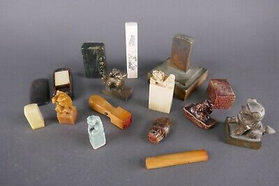Lot (15) 19th/20th Century Chinese Seals Chops Works Of Art