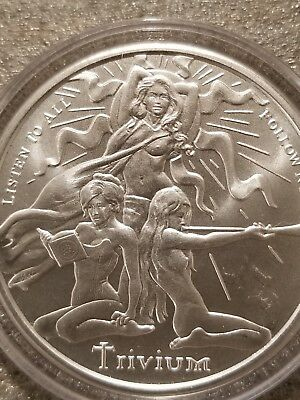 2015 Trivium Girls 1 oz .999 Silver Shield nude life liberty happiness hot naked