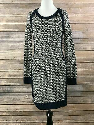 69f3f93ab90 Pink Rose Juniors Blue White Knitted Long Sleeve Sweater Dress Size Small  NEW