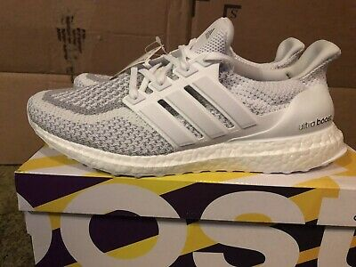6e4fed1b8 Adidas Ultra Boost 2.0 Limited BB3928 Triple White 3m Reflective Men s Size  9